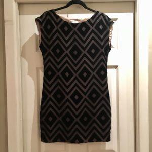 Trina Turk black velvet pattern dress